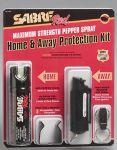 Sabre SRU-HAPK, Combo Home Pepper Foam 2.5oz & Away Pepper Spray 0.54oz Protection Kit