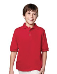 Tri-Mountain 090 Element Youth-Youth 60/40 Short Sleeve Pique Golf Shirt.