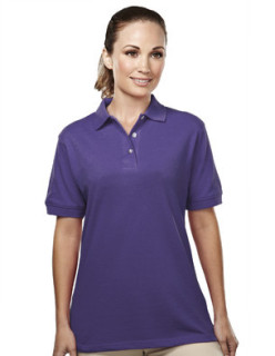 Tri-Mountain 092 Accent-Women's 60/40 Easy Care Pique Golf Shirt.