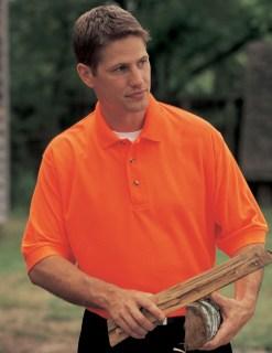 Tri-Mountain 100 Safeguard-Poly Safety Pique Golf Shirt.
