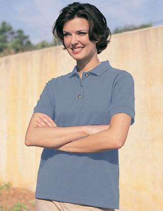 Tri-Mountain 102 Contour-Women 60/40 Pique Golf Shirt.