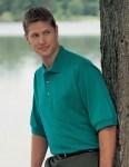 Tri-Mountain 106 Image-Men's 60/40 Pique Pocketed Golf Shirt.