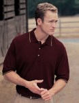 Tri-Mountain 116 Pursuit-Men's 60/40 Ultracool Mesh Golf Shirt.