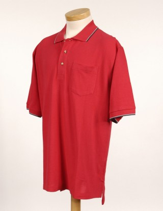 Tri-Mountain 117 Conquest-Men's 60/40 Ultracool Mesh Pocketed Golf Shirt.