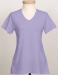 Tri-Mountain 130 Appeal-Women's Cotton Jersey Short Sleeve V-Neck Knit.