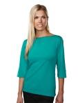Tri-Mountain 139 Cypress-Women's Cotton/Poly 60/40 Knit Top, w/ 3/4 Sleeve