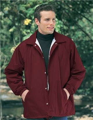 Tri-Mountain 1500 Coach-Nylon Coach's Jacket With Flannel Lining.