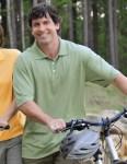 Tri-Mountain 158 Vigor-Men's Poly Ultracool Pique Golf Shirt.