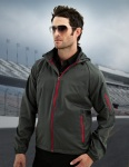 Tri-Mountain 1730 Cf-I-Men's 100% Polyester Rib Stop Water Resistant Long Sleeve Hoodly Jacket