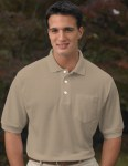 Tri-Mountain 189 Caliber Ltd-Men's Cotton Baby Pique Pocketed Golf Shirt.