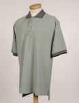 Tri-Mountain 196 Sterling-Men's Cotton Pique Golf Shirt With Jacquard Trim.