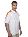 Tri-Mountain 207 Avenger-Men's 100% Polyester Knit Polo Shirt, Raglan Sleeve w/ Shoulder Contrast