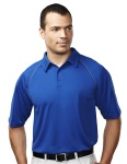 Tri-Mountain 227 Dauntless-Men's 100% Polyester Raglan Knit Polo Shirt.