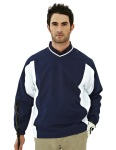 Tri-Mountain 2550 Warrior-Men's 100% Polyester Micro V Neck Long Sleeve Wind Shirt