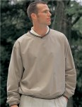 Tri-Mountain 2560 Atlantic-Peached Microfiber Windshirt With Nylon Lining.