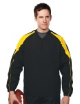 Tri-Mountain 2630 Hiro-Men's 100% Polyester V-Neck Long Sleeve Wind Shirt With Water Resistent.