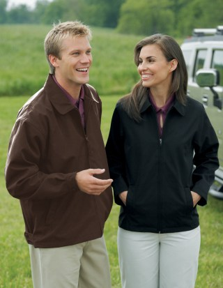 Tri-Mountain 2990 Avenue-Men's Soft Twill Polyester Jacket With Nylon Lining.