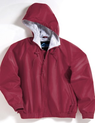 Tri-Mountain 3500 Bay Watch/Youth-Youth Nylon Hooded Jacket With Jersey Lining.