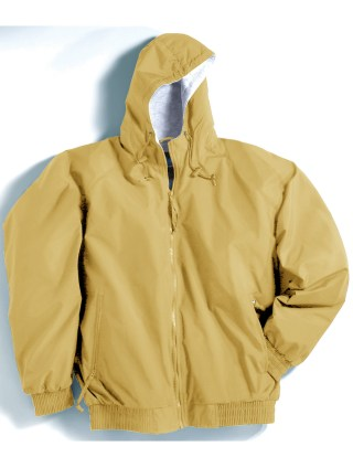 Tri-Mountain 3600 Bay Watch-Nylon Hooded Jacket With Jersey Lining.