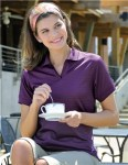 Tri-Mountain 402 Aura-Women's Poly Ultracool Basket Knit Johnny Collar Golf Shirt.