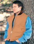 Tri-Mountain 4400 Lodestar-Cotton Canvas Work Vest With Quilted Lining.