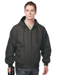 Tri-Mountain 4680 Buckeye-Enzyme Wash Cotton Canvas Hooded Work Jacket With Quilted Lining.