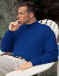 Tri-Mountain 620 Graduate-Cotton Interlock Mock Turtleneck.