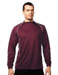 Tri-Mountain 623 Thunderbolt-Men's 100% Polyester Ls Knit Crewneck