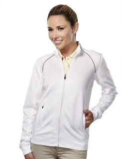 Tri-Mountain 625 Exeter-Women's 100% Polyester Full Zip Ls Knit Shirt