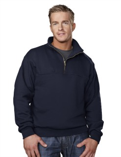 Tri-Mountain 644 React-Cotton/Poly 1/4 Zip Firefighter's Work Shirt.