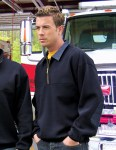 Tri-Mountain 645 Alert-Cotton/Poly 1/4 Zip Firefighter's Work Shirt With Denim.