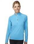 Tri-Mountain 657 Lady Hyperion-Women's 88% Polyester 12% Spandex Knit Quarter Zipper Jogging Pullover,