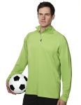 Tri-Mountain 659 Hyperion-Men's 88% Polyester 12% Spandex Knit Quarter Zipper Jogging Pullover,