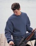 Tri-Mountain 680 Aspect-Cotton/Poly Sueded Finish Crewneck Sweatshirt.