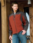 Tri-Mountain 6825 Rockford-Poly Stretch Bonded Soft Shell Jacket With Sherpa Fleece Lining.
