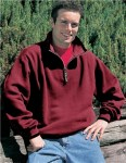 Tri-Mountain 682 Everest - Cotton/poly 1/4 zip fashion fleece with trim