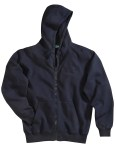 Tri-Mountain 690 Prospect-Cotton/Poly Sueded Finish Hooded Full Zip Sweatshirt.