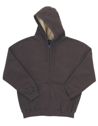 Tri-Mountain 697 Marshall-Men 60/40 Thermal Full Zip Hooded Sweatshirt With Sherpa Fleece Lining.