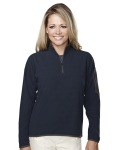Tri-Mountain 7046 Juneau - Women's 100% Polyester fleece 1/4 zipper pullover