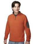 Tri-Mountain 7048 Cordova - Men's 100% Polyester fleece 1/4 zipper pullover