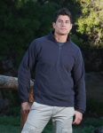 Tri-Mountain 7050 Horizon-Men's 100% Polyester Anti-Pilling Dobby Fleece 1/2 Zip Ls Knit Shirt.