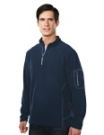 Tri-Mountain 7115 Fairbanks - Men's 100% Poly Micro Fleece quarter ziper pullover