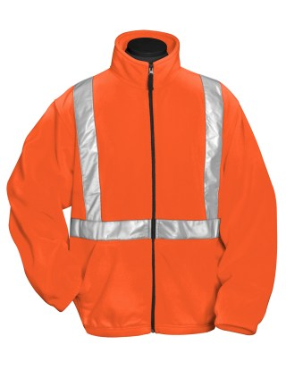 Tri-Mountain 7130 Precinct-100% Polyester Anti-Pilling Safety Fleece Jacket. Ansi Class 2/Level 2.