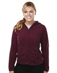 Tri-Mountain 7283 Galena - Women's 100% Polyester fleece color blocking fully placket jacket,