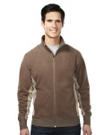 Tri-Mountain 7285 Grenada - Men's 100% Polyester fleece color blocking fully placket jacket,
