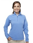 Tri-Mountain 7363 Kaya - Women's 100% Polyester Microfleece 1/4 Zipper Pullover