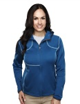 Tri-Mountain 7382 Lady Mustang-Women's 100%poly Micro Fleece Long Sleeve Ultra Cool Jacket With Hood.