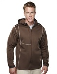 Tri-Mountain 7384 Mustang - Men's 100%Poly Fleece long sleeve ULTRA COOL jacket with hood