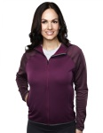 Tri-Mountain 7387 Lady Raven-Women's 100%poly Fleece Long Sleeve Ultra Cool Jacket With Hood.