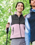 Tri-Mountain 7410 Cienna - Women's panda fleece vest with nylon paneling